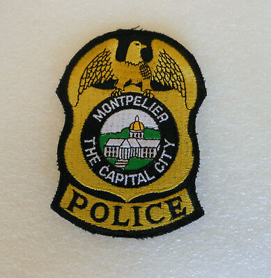 Montpelier Vermont The Capital City Police Patch