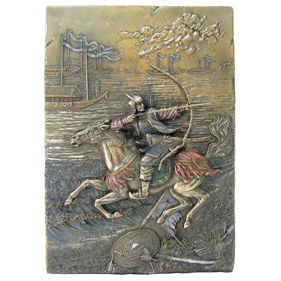 "12.25"" Samurai Wall Plaque Oriental Arts Collectible Japanese Warrior Home Decor"