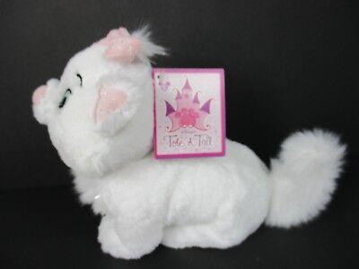 Disney Parks Tote a Tail Aristocats Marie Cat Plush 8 Inch New with Tags