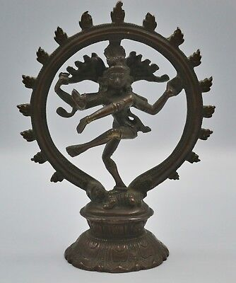 Fine Antique Vintage India Indian Bronze Shiva as Nataraja Lord of Dance Statue