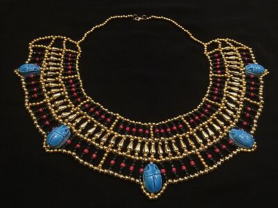 Egyptian Queen Cleopatra style Pharaoh's Necklace/Collar - 100% Handmade.