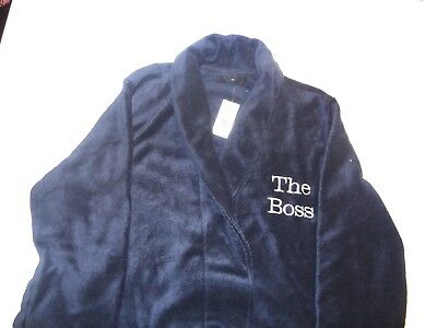 Personalised Dressing Gown - Super Soft Beautifully Embroidered Any Text Gift