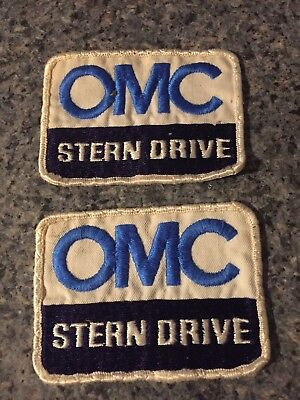Lot Of 2 Vintage OMC Stern Drive Patch 3.5""
