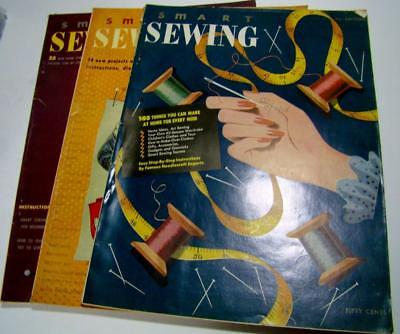 Antique Lot of 3 Sewing Books Magazine Sewing 1st 2nd 3rd Edition RARE
