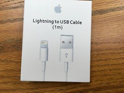 OEM Apple 1m Lightning to USB Charge Sync Cable for iPhone iPod iPads MD818ZM/A