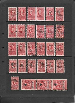 "U.s. 28 Revenue Stamps ""reds"", Nice Assortment From Various Series"