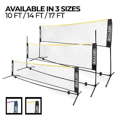 Boulder Portable Badminton Net Set Tennis Soccer Indoor Outdoor Court Beach 10ft