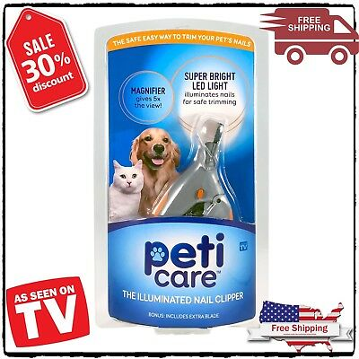 AS SEEN ON TV PetiCare The Illuminated Pet Nail Clipper Great for Cats & Dogs