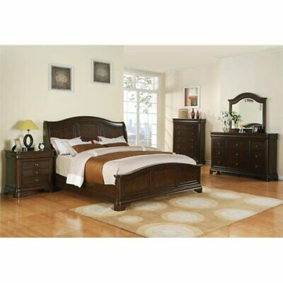 Picket House Furnishings Conley 4 Piece King Bedroom Set in Cherry