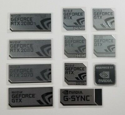 Nvidia GeForce RTX 20 Series 2080Ti/2080/2070 | Metal Case Badge Logo Stickers