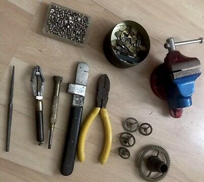 Collection Of Clock/Watchmakers Tools & Parts