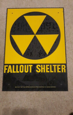 Fallout Shelter Sign Original NOS Fallout 76  falllout 4  CYBER MONDAY