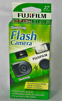 Fuji film Quick-snap Flash Disposable 35 mm Camera New 27 EXP POSES NEW 35mm