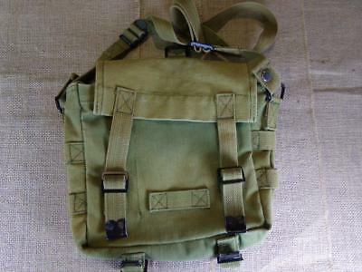 Vintage Military Canvas Green Waist Pouch Bag Satchel Messenger GUC Army?