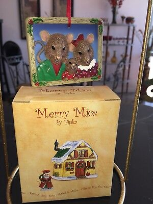 "NEW Pipka MERRY MICE ""Mouse Family "" Ornament"