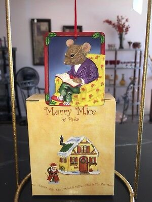 "NEW Pipka MERRY MICE ""A Christmas Story"" Ornament"