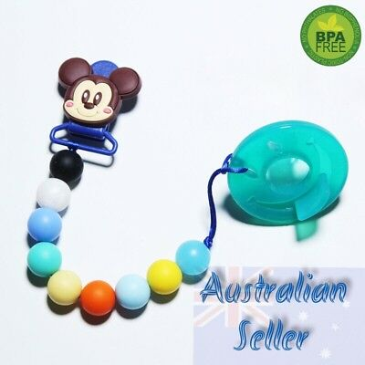Teething Dummy Clip Baby Pacifier Clips Silicone Teether Soother Pacifier Chain
