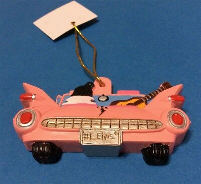 Elvis Presley Rides Away In His Pink Cadillac Christmas Ornament