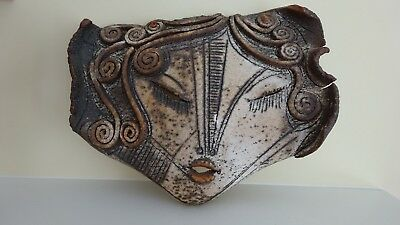 ONE OF A KIND - Antique style Beautiful Greek GODDESS MASK WALL HANGING