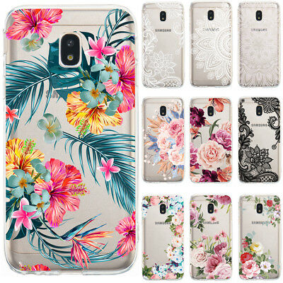 For Samsung Galaxy J3 J5 J7 2017 Slim Soft TPU Silicone Painted Clear Case Cover