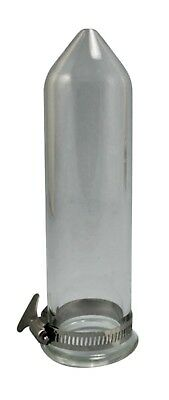"""2"""" X 8"""" QUALITY Borosilicate Glass Extraction Tube Essential Oils 4mm Thick"""