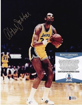 78e7a0813d1 KAREEM ABDUL- JABBAR LOS ANGELES LAKERS BECKETT AUTHENTICATED SIGNED 8x10