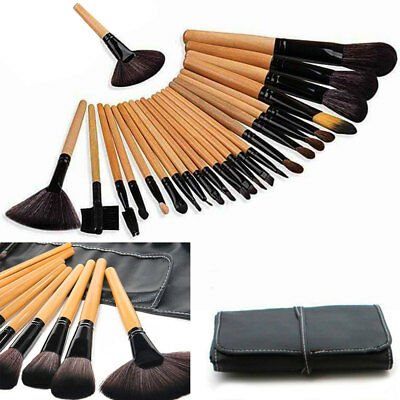 24 Pcs Professional Make Up Brush Set Foundation Brushes Kabuki Makeup Brush UK