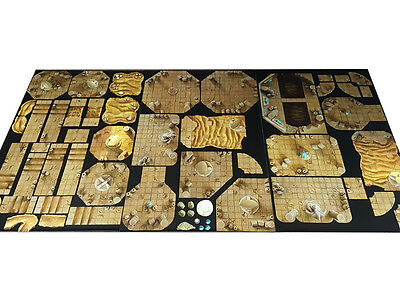 Modular RPG Desert Dungeon Set, gaming mat dnd D&D roleplaying board rpg terrain