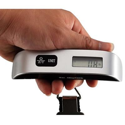 110lb 50kg/10g LCD Digital Hanging Luggage Scale Travel Electronic Weight Tool