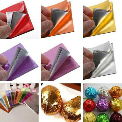100Pcs Muti-color Square Aluminum Foil Wrappers Candy Chocolate Lolly Acces