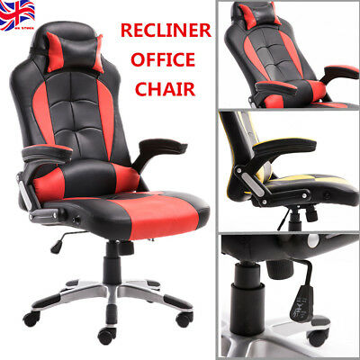 Luxury Executive Office Chair Racing Gaming Recliner Adjustable Swivel Computer