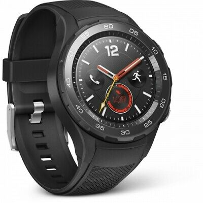 Huawei Watch 2 LTE Carbon Black 140-210 mm Smartwatch Android iOS Kunststoff