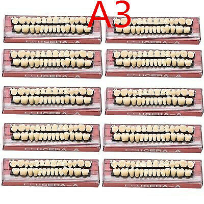 280Pc/10Set Dental Denture Acrylic Resin Full Set Teeth Upper Lower Shade 23# A3