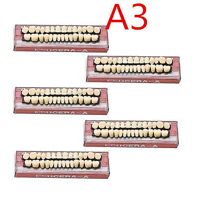 5Set Dental Denture Acrylic Resin Full Set Teeth Upper Lower Shade 23# A3
