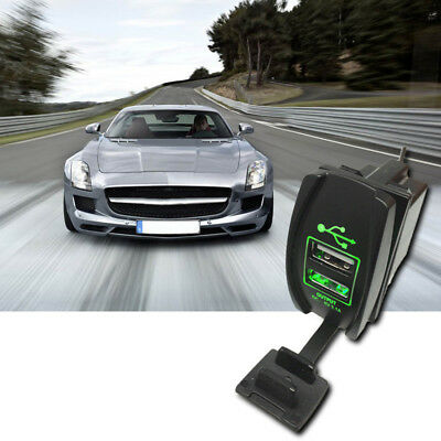 3.1A Dual LED USB Car Auto Power Supply Charger Port Socket Waterproof