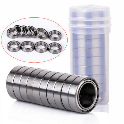 10pcs 10x15x4 mm 6700ZZ Steel Metal Shielded Ball Bearings Thin Wall Roller Set