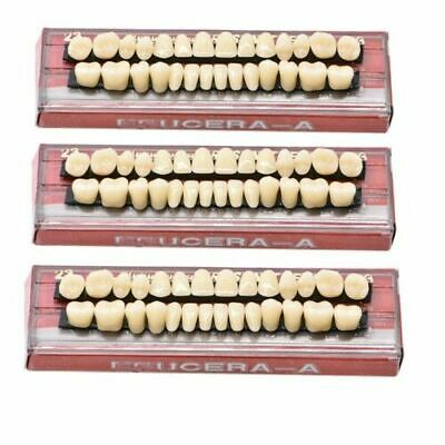 28Pc/1Set Dental Denture Acrylic Resin Full Set Teeth Upper Lower Shade 23# A3