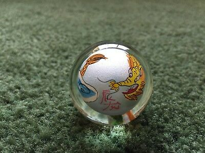 Glass Dragon Painted Marble Topper