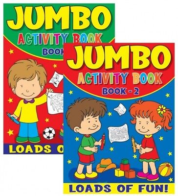2 X Jumbo Childrens Kids Puzzle Colouring Activity Fun Books Puzzle 72 Pages Uk