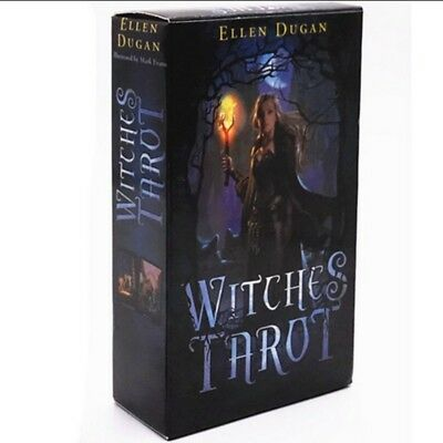 HOT! Witches Tarot Deck Сard Rider-Waite Smith English Version 78 Cards Set US