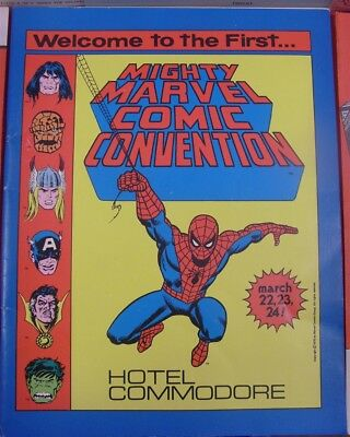 Mighty Marvel Comic Convention Program Book 1St Con New York 1975 Stan Lee