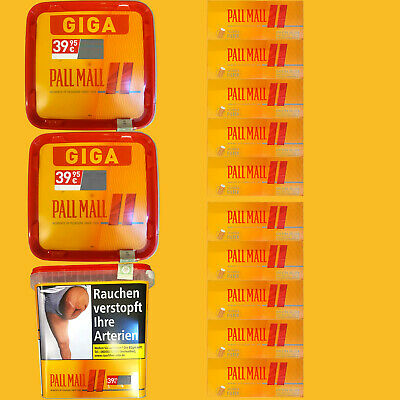 3x Pall Mall Allround Volumentabak Giga Box 290g, 2000 Pall Mall Hülsen