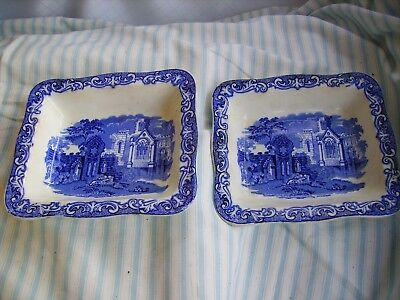 A pair of vintage Shredded Wheat dishes