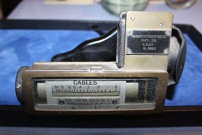 Antique WW II Marine Distance Meter Patt 703 H.H. & S In Cables And Feet #5823