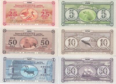 Groklant Island Set 6 bon 2018 year UNC (private issue)