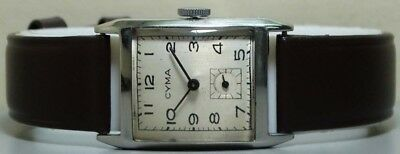 Vintage Cyma Winding Swiss Made Wrist Watch S121 Old Used Antique