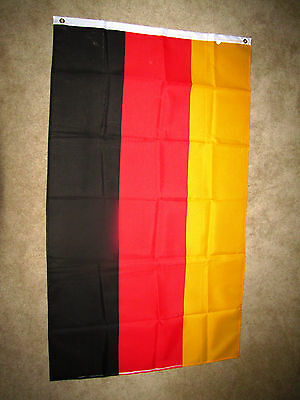 3x5 Foot Germany National Flag Indoor/Outdoor; Polyester w/ reinforced edge-MINT