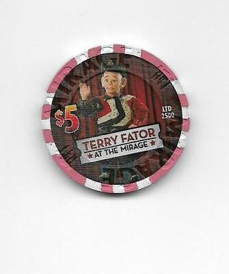 The Mirage $5 Terry Fator Casino chip  uncirculated condition!   Cowboy