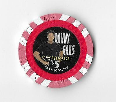 The Mirage Danny Gans (rip) $5 casino chip 1st edition  uncirculated condition!