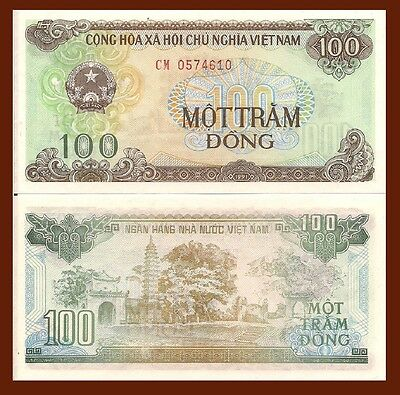 Vietnam P105a, 100 Dong, Arme / Pho Minh Turm in Nam Dinh , 1991, UNC